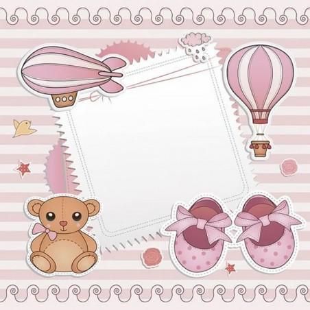 Lamina sublimacion 30 x 30 cm Baby Pink Trip