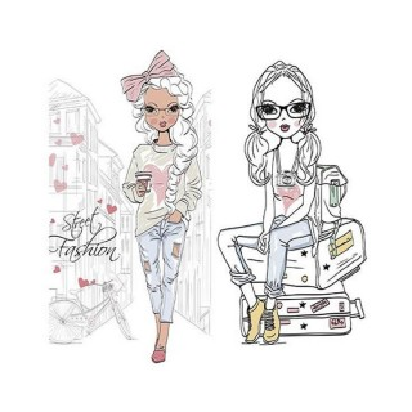 Lamina sublimacion 30 x 30 cm Fashion Street