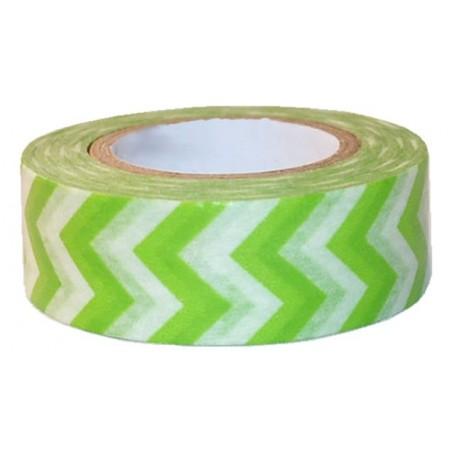 Washi tape rayas zig zag verdes