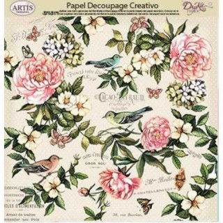 Papel Dayka decoupage creativo 0813406 flores
