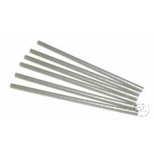 Barras de pegamento silicona de calor plata glitter 19 cm