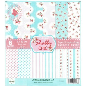 Surtido 6 papeles scrap doble cara Chic