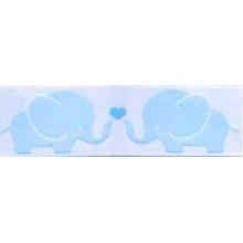 Cinta infantil elefantes Azul 1 metro