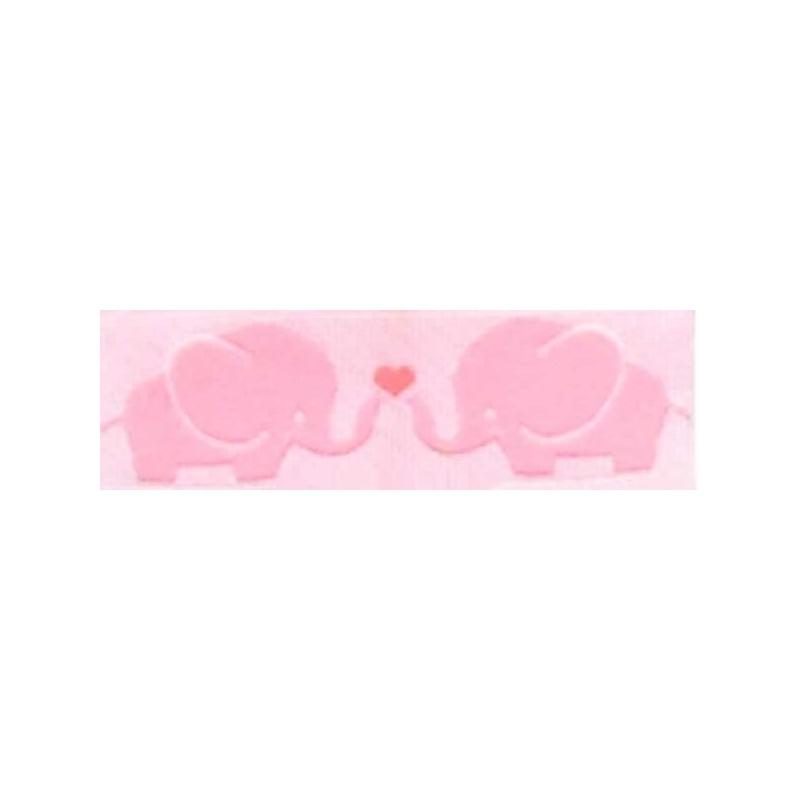 Cinta infantil elefantes rosa 1 metro