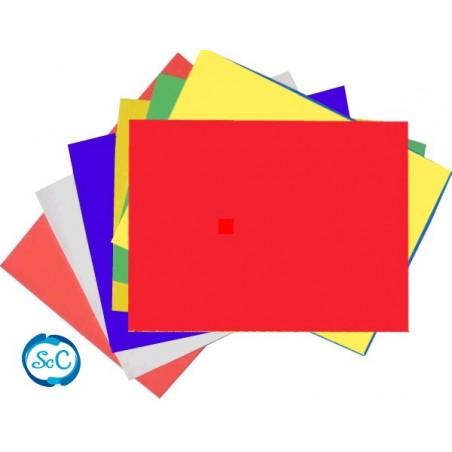 Goma eva 5 mm roja en planchas 47 x 70 cm