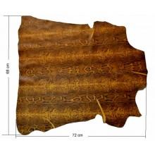 Piel entera Fantasia boa marron oscuro 68 x 72 cm