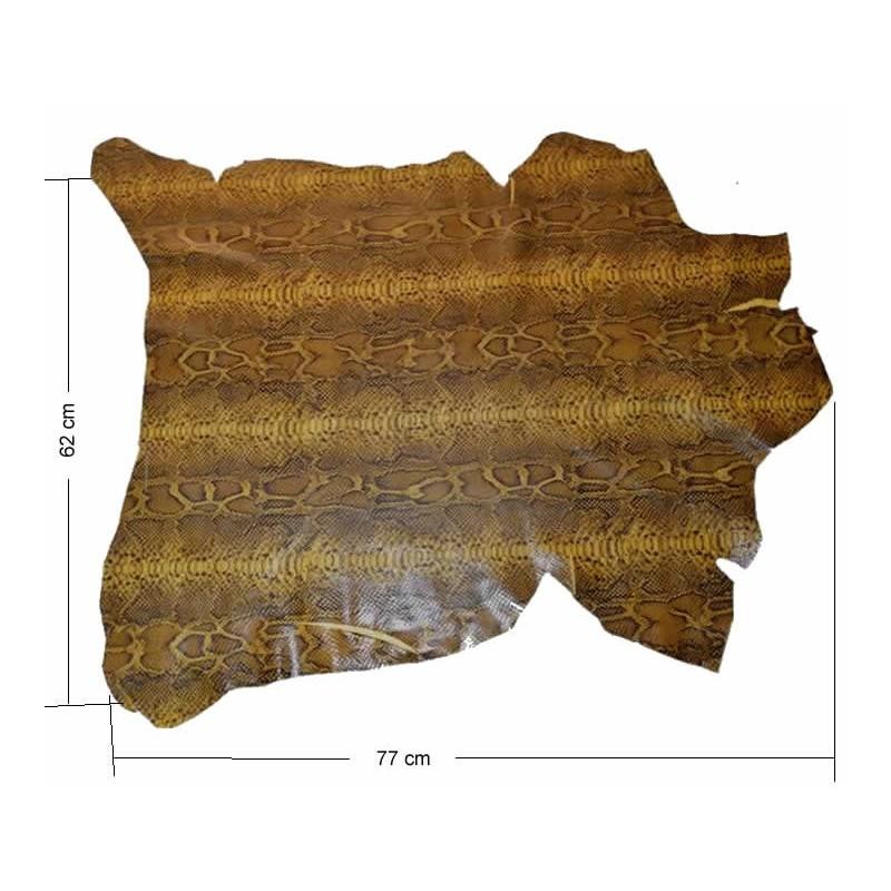 Piel entera Fantasia boa marron oscuro 62 x 77 cm