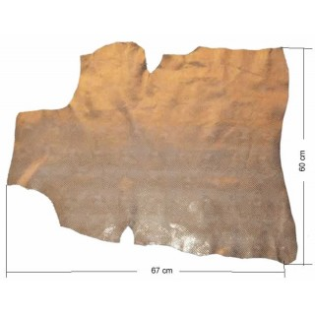 Piel entera fantasia oro escamas 60 x 67 cm