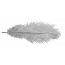 Pluma avestruz gris 40 cm