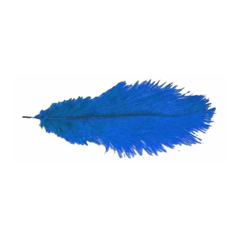 Pluma avestruz azulon 40 cm