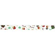 Cinta bies Navidad blanca Papa Noel 18 mm. 1 metro