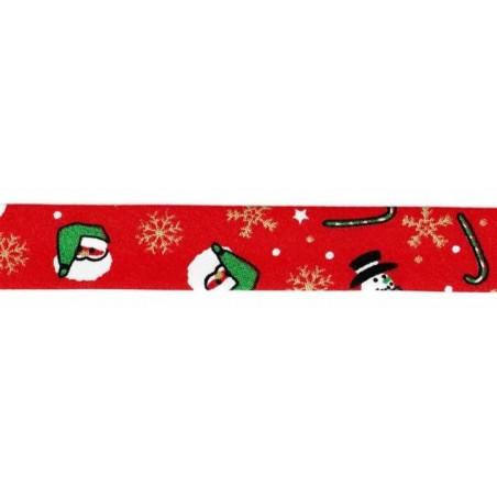 Cinta bies Navidad roja Papa Noel 18 mm. 1 metro