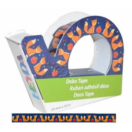 Deco Tape Heyda 10 metros zorros y manzanas