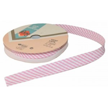 Bies vichy listado rosa 18 mm x 1 metro
