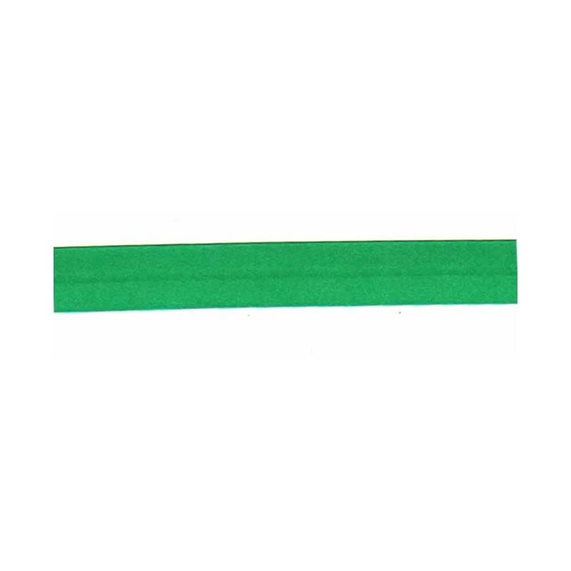 Bies raso verde esmeralda 18 mm x 1 metro