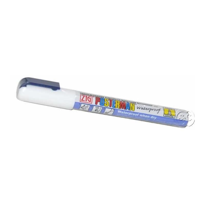 Rotulador ZIG Posterman permanente Blanco 0,5 mm