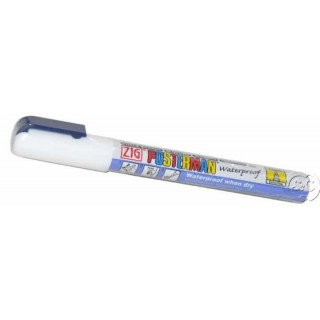 Rotulador ZIG Posterman permanente Blanco 0,5 mm