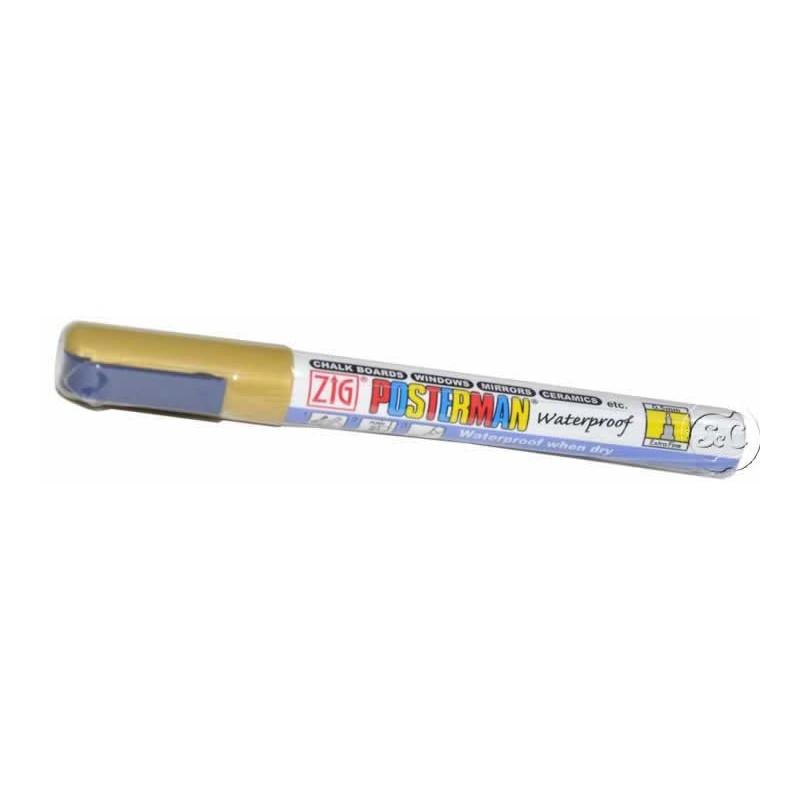 Rotulador ZIG Posterman permanente Oro 0,5 mm