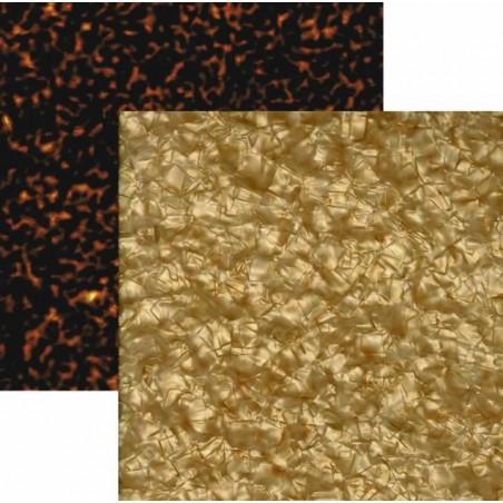 Plancha nacar oro y carey 2 caras Tricapa 1.7 mm. 29 x 32 cm