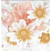 Servilleta decorada Flores suaves