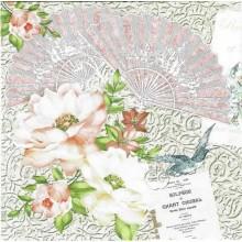 Servilleta decorada Flores Rmantic