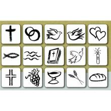Set de 15 sellos boda y comunion