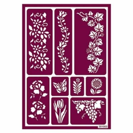 Plantilla para acido hojas y flores