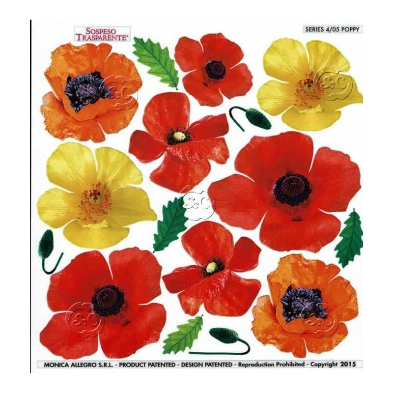 Lamina sospeso prediseñado Poppy 23 x 23 cm