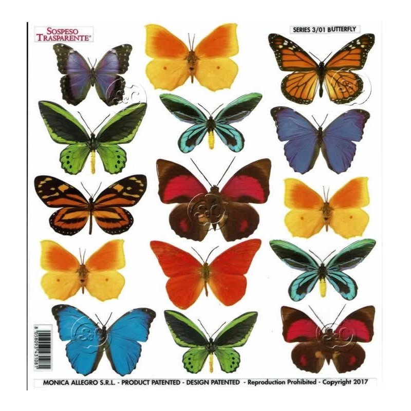 Lamina sospeso prediseñado Butterfly 23 x 23 cm