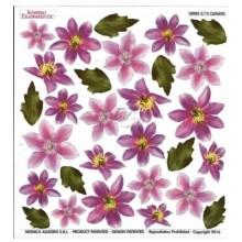 Lamina sospeso prediseñado Clematis 23 x 23 cm