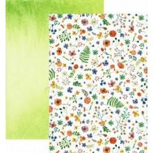 Papel scrap mil flores doble cara 25 x 35 cm 300 gr