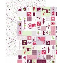 Papel scrap infantil rosa doble cara 25 x 35 cm 300 gr