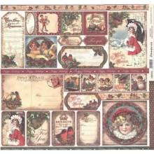 Papel scrap de navidad Felicitaciones, Stamperia