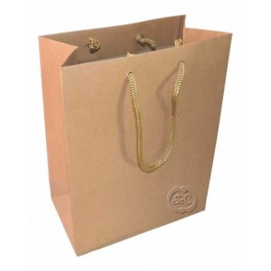 Bolsa regalo de papel craft marron 18 x 23 x 10 cm