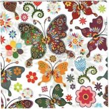 Servilleta decorada mandala mariposa