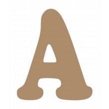 Letra de madera A mayuscula 13 cm