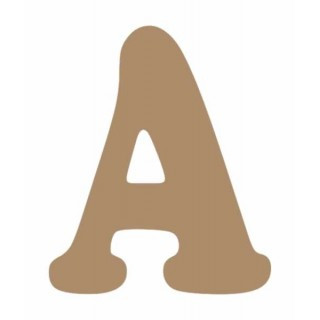 Letras de madera mayuscula 13 cm