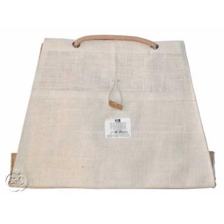 Bolso de yute ciudad color marfil 29x40x13cm