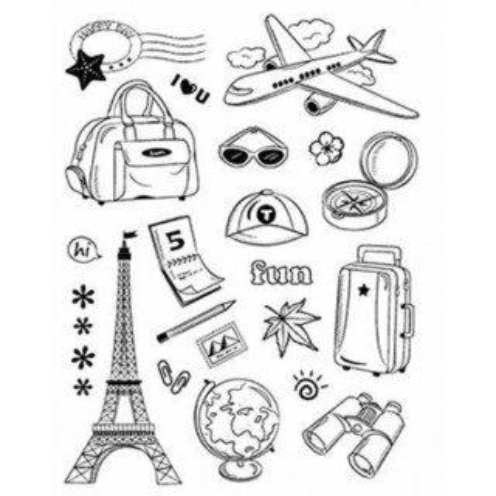 Set de sellos de silicona transparente Vacaciones
