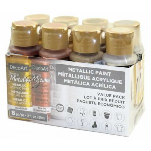 Pack de 8 botes americana metelic Decoart DAsk 424 59 ml