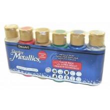 Pack economico 6 botes Metallics Navidad DecoArt DASK433 59 ml
