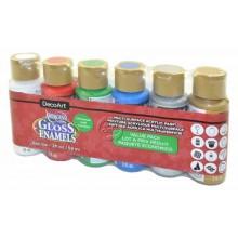 Pack economico 6 botes brillo Navidad DecoArt DASK434 59 ml