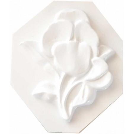 Molde plastico para escayola Azucena 11 x 13 cm