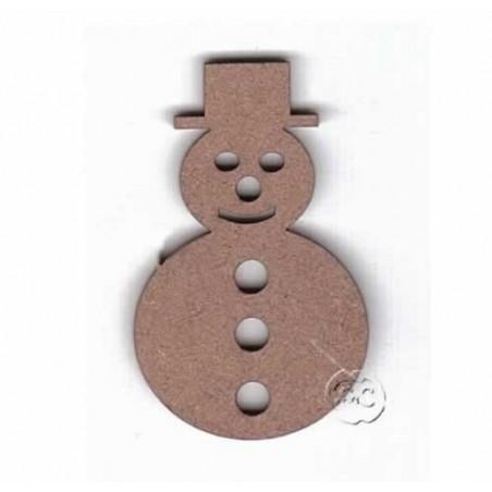 Silueta madera para scrap muñeco de nieve