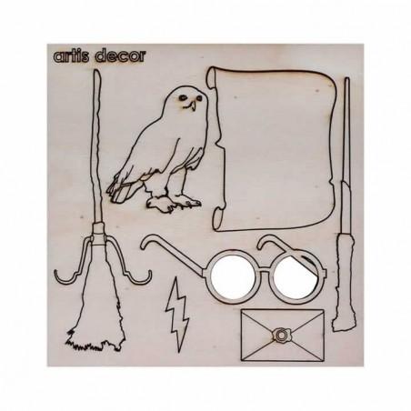 Elementos de escuela de magia en kit