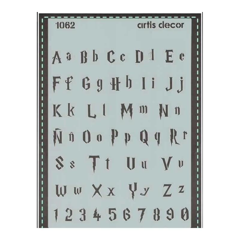 Plantilla abecedario Escuela de magia