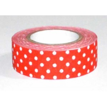 Fabric tape de tela adhesiva rojo con lunares, 4 metros