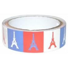 Washi tape satinado Torre Eiffel bandera Paris