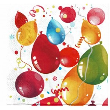 Servilleta decorada Fiesta de globos