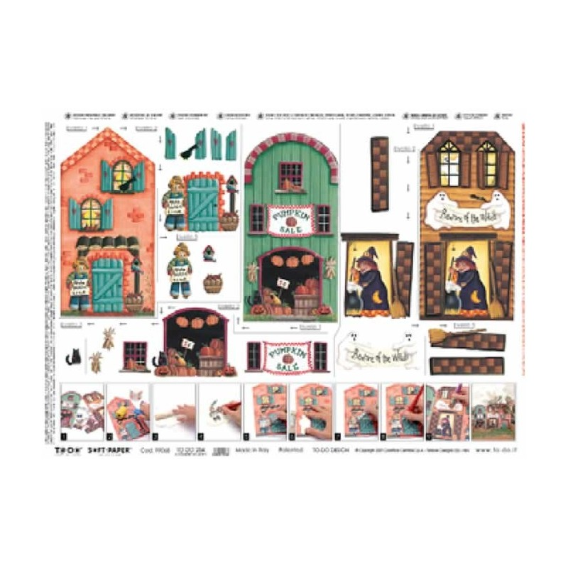 "Papel soft ""Casas Halloween"""